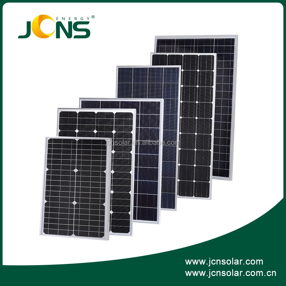 Factory directly sale mono crystalline solar panel with IEC ISO TUV CE certificates