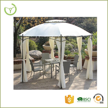 White polyester with outdoor round metal tent standing tube cheap gazebo kits