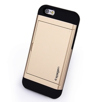 Hot-Selling Shockproof TPU+PC Phone Cover Dust-proof Mobile Wallet Phone Case Card Slotting Design For iPhone6