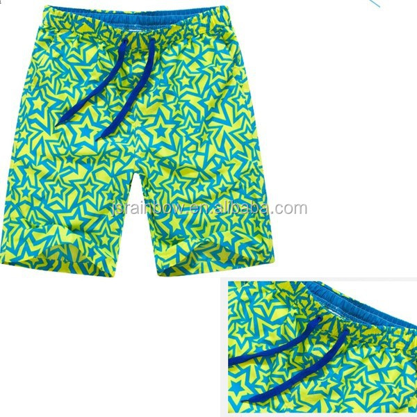 wholesale polyester beach pants mint green printing xxx phote sexy men swimming shorts with rope E032