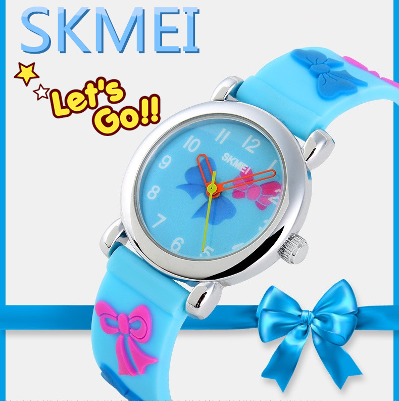 skmei quartz silicone kid slap watch #1047