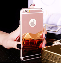 For iPhone Cell Phone Case,Clear TPU Frame + Mirror Back Cover for iPhone 6 6plus 7 7plus 8