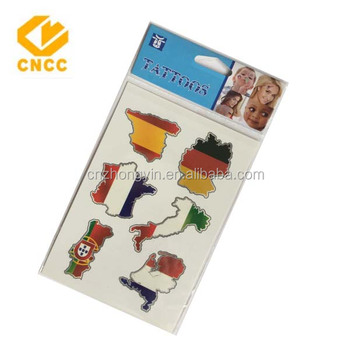 water transfer national flag tattoo sticker