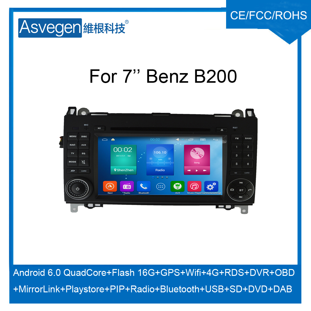 For Mercedes-Benz B200 W169 W245 Android car dvd player With GPS Navigation Mirror Link touch screen Bluetooth Radio DAB