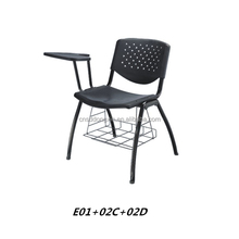 Excellent conference chair writing tablet Simple style office chairs with bookcase E01+02C+02D