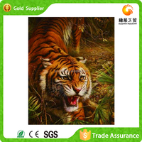 Fast supplier gift and craft 3d diy animal oil painting of tiger