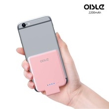 OISLE 2200mAh Ultra Compact Battery Case High-Speed Charging Technology Power Bank for iPhone 6 7
