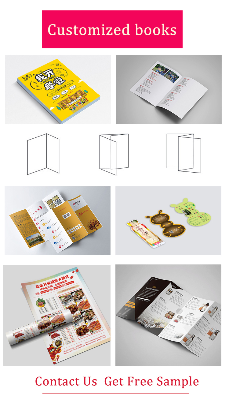 A6/a4/a5 size saddle stitching cheap high end printing service for booklet/magazine