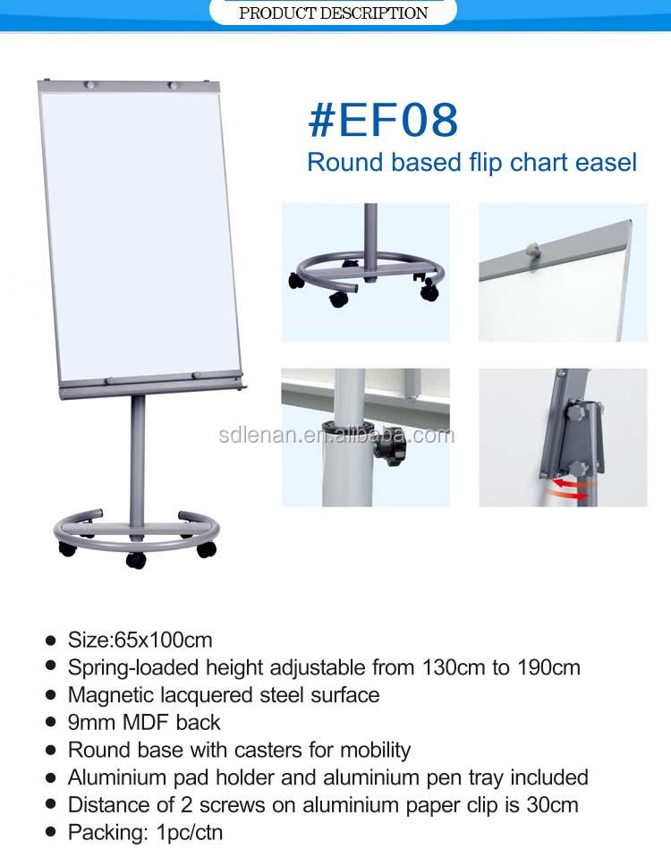 Office School Round Based Flip Chart Easel 65 100 Cm