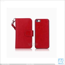 Beautiful wallet case for iphon 5s ,soft TPU paste PU leather skin cover for iphone 5s leather case