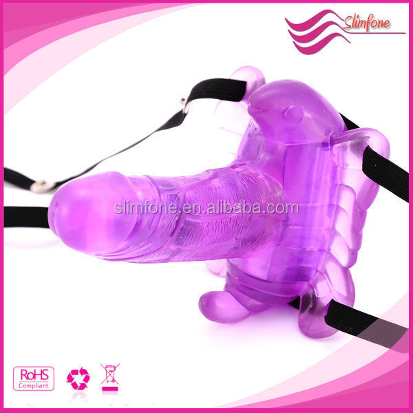 Wireless control strap on Butterfly Vibrating Sex Dildo for vagina pictures