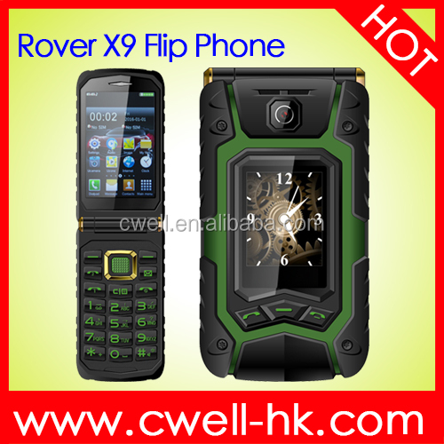 Hot sale Good Price 3.5 inch Unlocked Dual SIM Card Flip Style Bluetooth Dual Screen Mobile Phone Rover X9