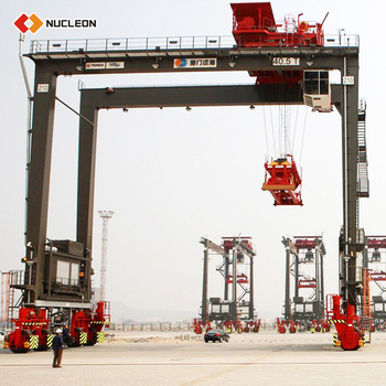 Expert Design Tire Container Concrete Rubber Type Gantry Crane