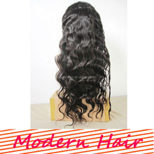 2014 Chinese pineapple wave natural color lace front wig