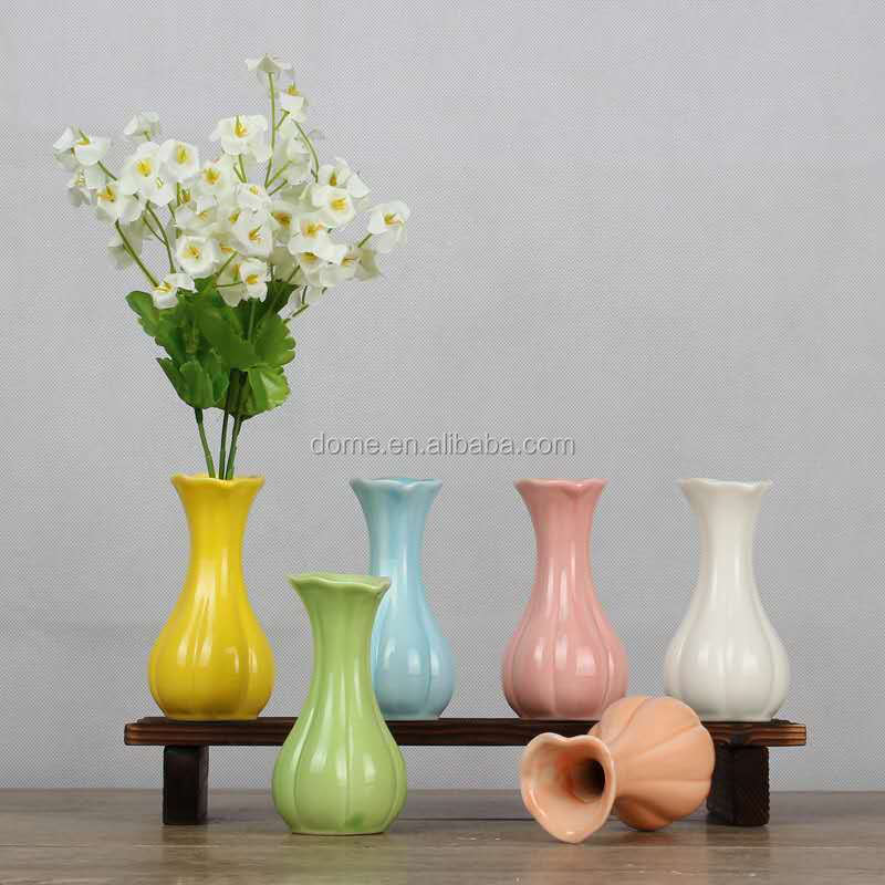 Indoor decoration modern ceramic small flower vase