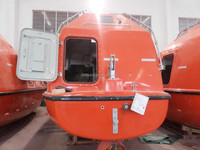 7.50M Totally Enclosed Platform Davit Fire Protected Life Boat / Rescue Boat