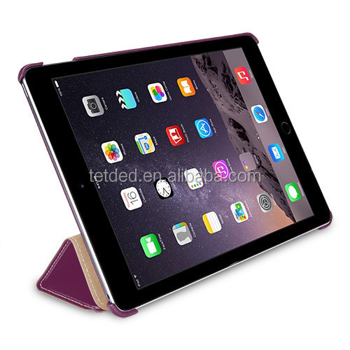 TETDED Premium Leather Case for Apple iPad Air 2 -- Quimper (LC: Purple)
