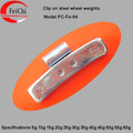 Fe clip-on wheel weight for alloy wheel