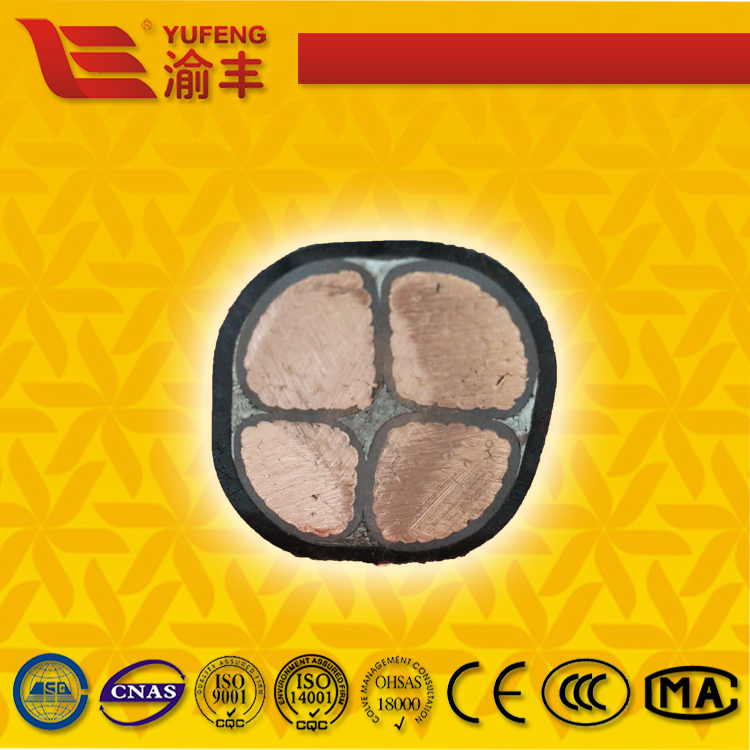 0.6/1kV Four Core Copper Conductor PVC Insulation Metallic Wire Armoured Power Cable
