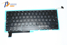 100% NEW Original A1286 keyboard & Backlight For macbook 15 inch Danish Denmark version Wholesale