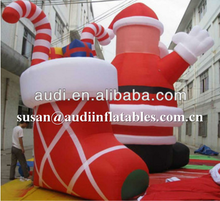 12'tall airblown christmas Inflatable santa claus ,santa inflatable decorations