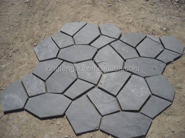 Natural black slate flag stone cladding cheap