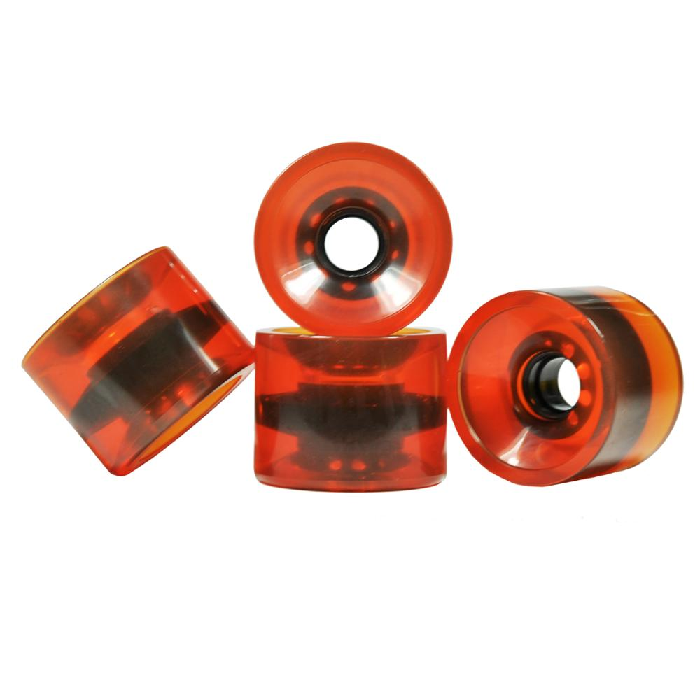 Longboard wheel polyurethane 70mm transparent wheels longboard multi Color OEM logo