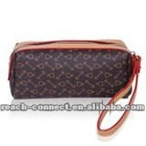 2012 new fashion clutch zip lady wallet cosmetic PVC bag