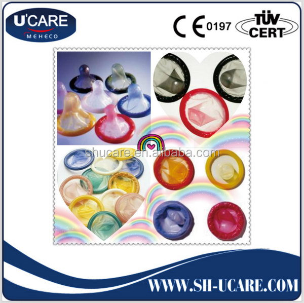 China supplier best sell multi striped color condom