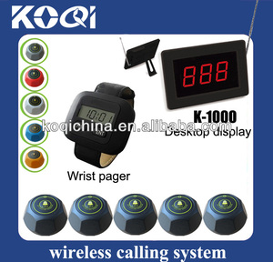 Cheap restaurant table call system suits for meseros K-1000 K-300 K-M alert pager call buttons restaurant