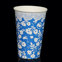 Short Delivery Time Embossed Single Wall Paper Coffee Cups