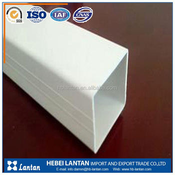 China gold supplier clean square rectangular pvc pipe for threading and drainge