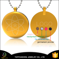 2015 China wholesale latest design gold pendant men design health magnetic quantum pendant price in india