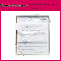 Wholesale Weddings Romance Best Gift Embroidered Handkerchief For Bridesmaid