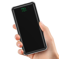 TOTU High Capacity Mobile Phone qi Wireless Charger Power Bank 10000mAh digital display with LED light