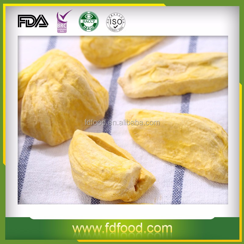 Tropical fruit healthy snack freeze dried jackfruit for sale