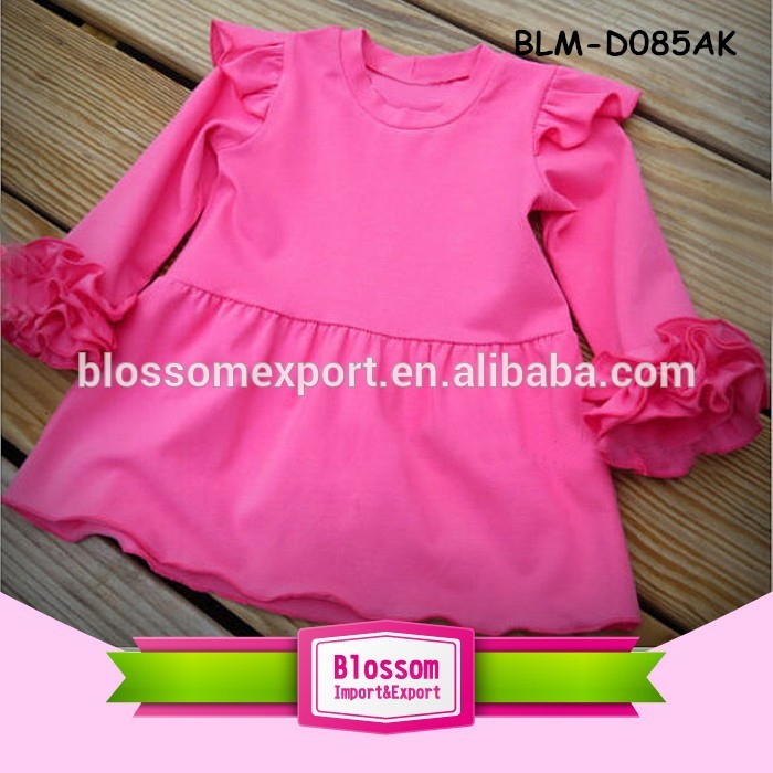2017 Baby girl party dress children frocks designs fashion pattern girls pearl tunic kids long icing flutter trim sleeve dress