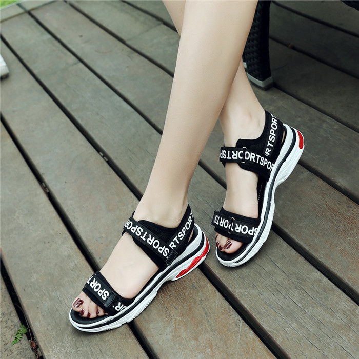 Ladies Hidden High Heel Creepers Platform Sandals Vogue Shoes Sport Roman