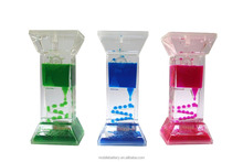 Hot-Selling factory price cheap liquid water hourglass time Acrylic Colorful Water Down Liquid Oil Timer