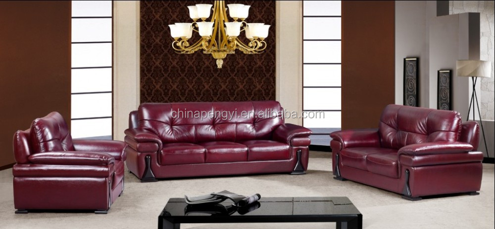 Promotional price red living room soft comfortable sofa set,modern alibaba leather sofa
