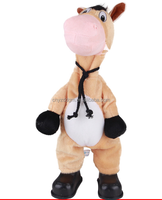 cute electric rocking head with singing&dancing horse plush toy