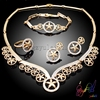 Factory price best selling fashion jewelry set , latest design bridal jewelry set african crystal jewelry sets