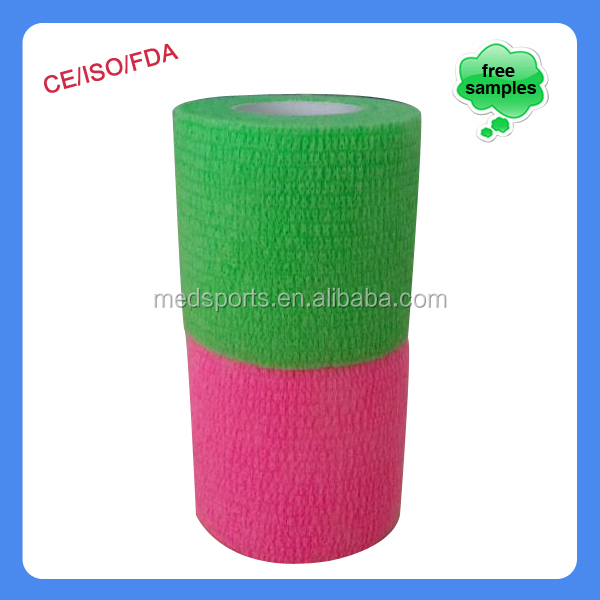 "Self Adherent 2"" Colored Elastic Bandage Wrap"