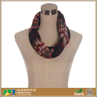 Lightweight pure cotton striped jersey infinity loop scarf