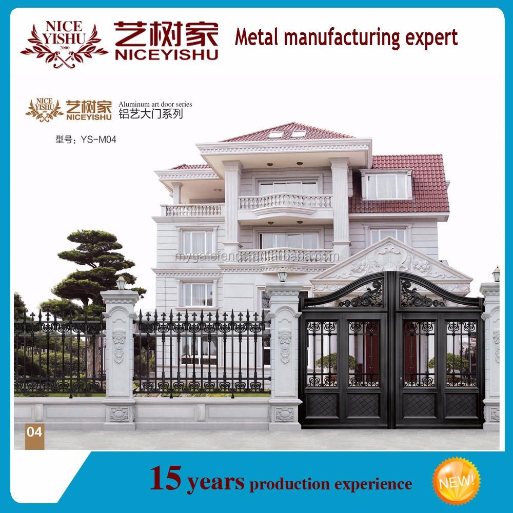 Auminum main fence gate designs, aluminum house main gate/sliding ...
