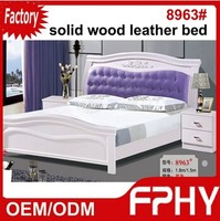 Factory Supply FPHY Solid Wood MDF panel 8963# bed room furniture