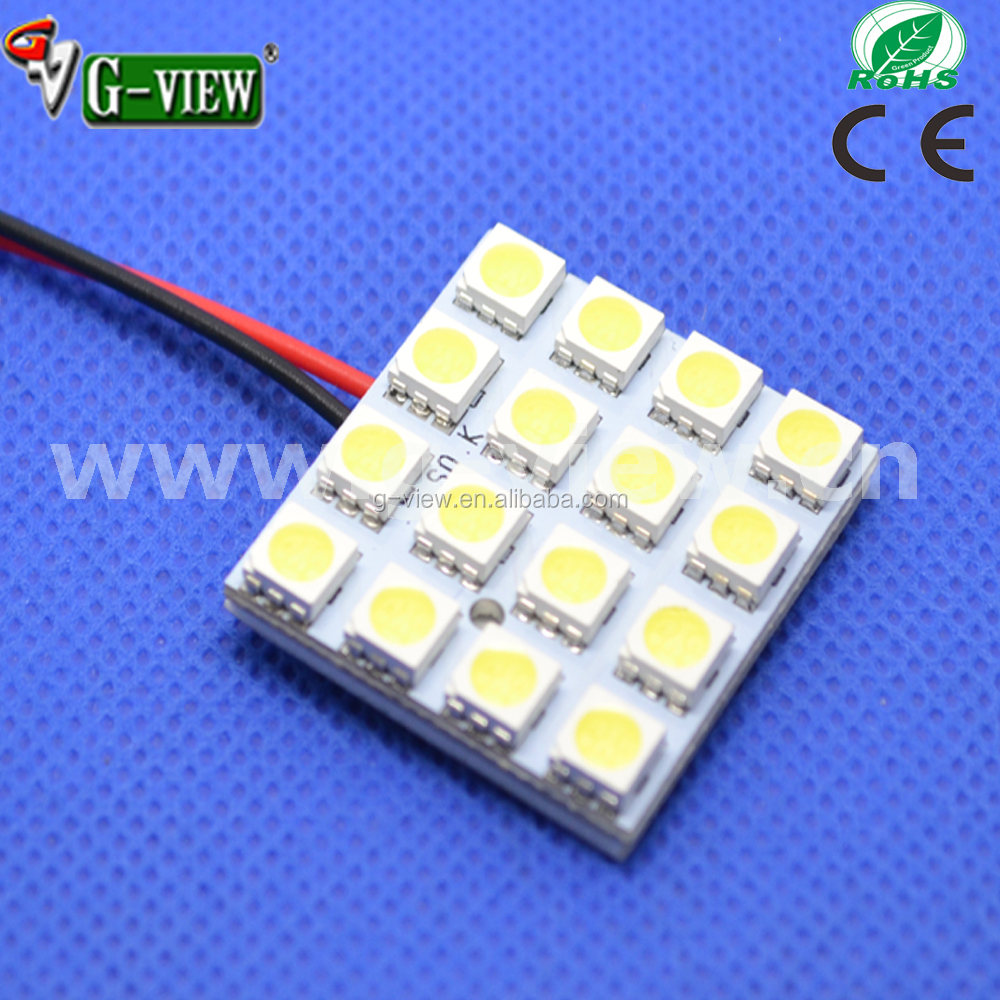 PCB 16SMD 20SMD 24SMD 48SMD 5050 LED Auto Car Top Dome Light For Interior Reading Roof light