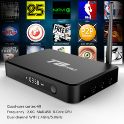 2016 New High Quality Android 5.1 TV Box KODI T8 PRO Fully Loaded Quad Core Android Free Sports Film Movies cable box tv