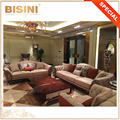 Italian Button Tufted Design Rose Gold Plating Brass And Upholstery Leather Combined Leisure Sofa Set