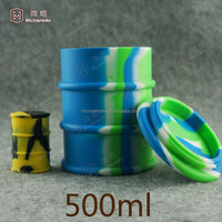 500ml Concentrate Dabber Jar silicone oil barrel container jars dab wax vaporizer Large Non Stick Oil Drum Containers